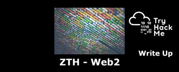 ZTH - web2 writeup tryhackme