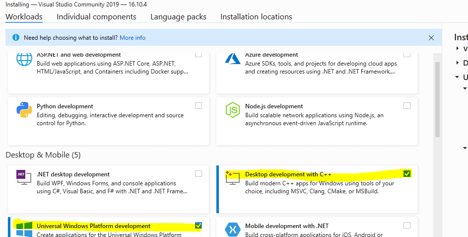 Visual Studio 2019 how to install