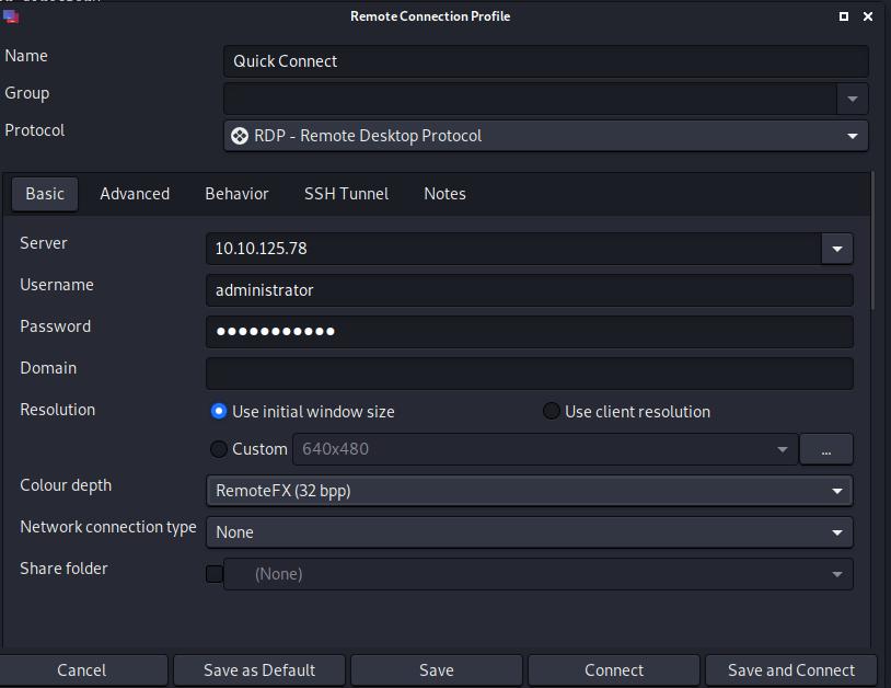 Remmina remote desktop